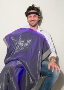 The blanket's creator, Lorenzo Spadoni