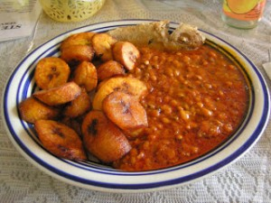 Beans and plantain