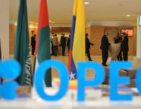 Participants attend the opening session of the 15th International Energy Forum in Algiers on September 27, 2016.  Oil prices rose modestly ahead of a meeting of producers from the Organization of the Petroleum Exporting Countries (OPEC) cartel and Russia in Algeria on September 28 that could agree to cap supplies. / AFP PHOTO / Ryad Kramdi